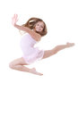 Ballet dancer leap Royalty Free Stock Photo