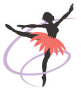 Ballet dancer a logo icon silhouette Royalty Free Stock Photos