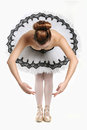 Ballet dancer in traditional pancake performance outfit stunning Royalty Free Stock Photo