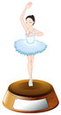 A ballet dancer trophy with an empty template illustration of on white background Stock Photos