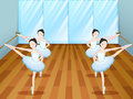 Ballet dancers rehearsing at the studio Royalty Free Stock Image