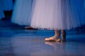 Ballet dancers in slippers Royalty Free Stock Photos