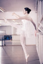 Ballet female dancer at a rehearsal Royalty Free Stock Image