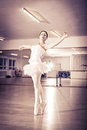 Ballet female dancer at a rehearsal Royalty Free Stock Photo