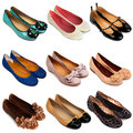 Ballet flat shoes-3 Royalty Free Stock Photo