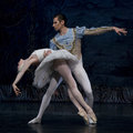 Ballet madrid spain january russian imperial s performance swan lake at teatro compac gran via january in madrid spain Stock Images