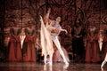 Ballet madrid spain january russian imperial s performance swan lake at teatro compac gran via january in madrid spain Stock Image