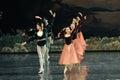 Ballet queue ballet swan lake in december russia s st petersburg theater in jiangxi nanchang performing Royalty Free Stock Images