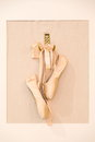 Ballet shoes hanging Royalty Free Stock Photo