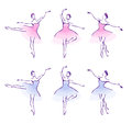 Ballet woman dancers illustration Royalty Free Stock Photos