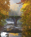 Balliarrain Old Bridge in Autumn, Gipuzkoa Stock Photos