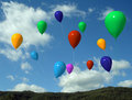 Ballons in the air Stock Photography