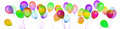 Ballons de vol d isolement Image stock