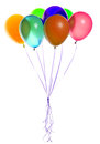 Ballons de vol d isolement Images stock