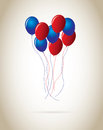 Ballons design over beige background vector illustration Royalty Free Stock Photography