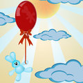 Balloon above the clouds Royalty Free Stock Photo