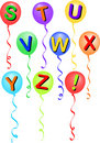 Balloon Alphabet S-!/eps Stock Photography