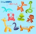 Balloon animals isolated