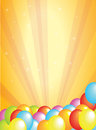 Balloon background festive and colorful with copy space to the top of the image Royalty Free Stock Photo