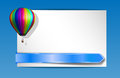 Balloon banner vector with colorful hot air and ribbon gradient mesh used Stock Images