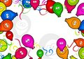 Balloon border Stock Photos