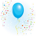 Balloon with dangling curly ribbon Royalty Free Stock Photo