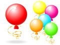 Balloon different color vector illustration Royalty Free Stock Photography