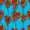 Balloon flower deco seamless pattern Royalty Free Stock Photo