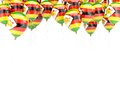 Balloon frame with flag of zimbabwe Royalty Free Stock Photo