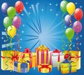 Balloon and Gift Boxes Royalty Free Stock Photo