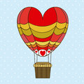Balloon heart design over dotted background vector illustration Royalty Free Stock Photo