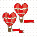 Balloon heart design over dotted background vector illustration Stock Images