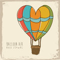 Balloon heart design over vintage background vector illustration Stock Photo