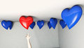 Balloon heart reach reaching up for a specific shaped Royalty Free Stock Photos