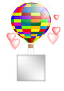 Balloon and hearts Royalty Free Stock Photos