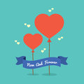 Balloon hearts backgroud vector illustration Royalty Free Stock Photos