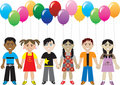 Balloon Kids Stock Image