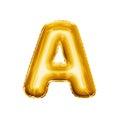 Balloon Letter A 3D Golden Foi...