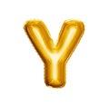 Balloon Letter Y 3D Golden Foi...