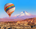 Balloon over Cappadocia Royalty Free Stock Photo