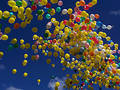 Balloon race 2 Royalty Free Stock Photo