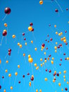 Balloon release at Virginia Tech Royalty Free Stock Photo