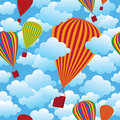 Balloon seamless pattern Stock Images