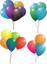 Balloon set foursome Royalty Free Stock Photos