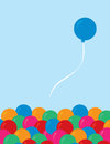 Balloon set free from group single Royalty Free Stock Photo