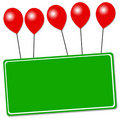 Balloon sign Stock Photo