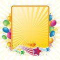 Balloon and star celebration background Stock Photos