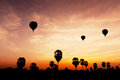 Balloon on twilight time moving Royalty Free Stock Photos