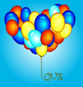 Balloon vector illustration of heart shape Royalty Free Stock Photos