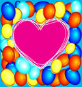Balloon vector illustration of heart shape Stock Images